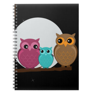 Family of Owls Notebook
