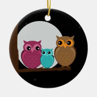 Family of Owls Ornament