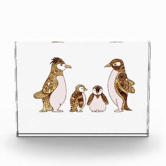 Family of Penguins Acrylic Award