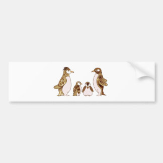 Family of Penguins Bumper Sticker