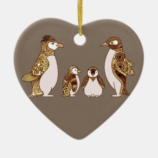 Family of Penguins Ceramic Ornament