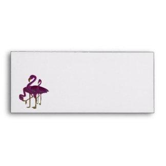Family of Pink Flamingos Envelope