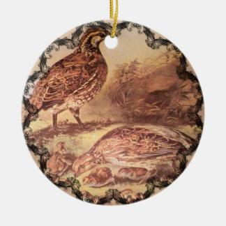 Family of Quail Ornament