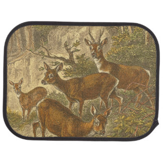 Family of Roe - Deers in a Forest Car Mat