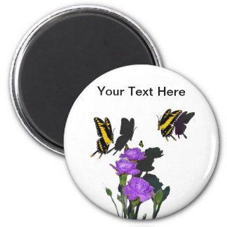 Family of Swallowtails 2 Inch Round Magnet