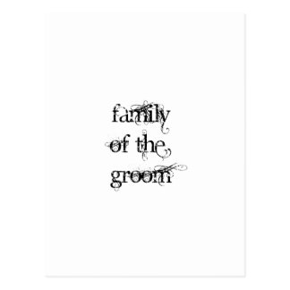 Family of the Groom Postcard