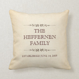 Family of Three Important Events Commemorative Pillow