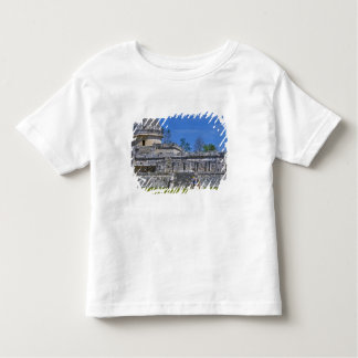 Family of tourists walk past ancient Mayan Toddler T-shirt
