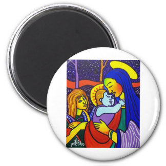 Family Old Masterpiece 2 Inch Round Magnet