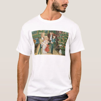 Family opening presents on Christmas T-Shirt