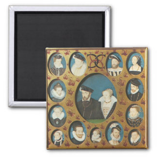 Family or Henry II or France 2 Inch Square Magnet