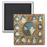 Family or Henry II or France Refrigerator Magnets