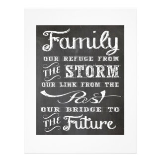 Family: Our Refuge From The Storm Letterhead