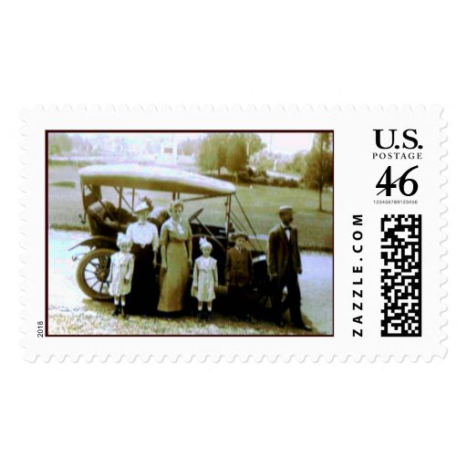 Family Outing Postage Stamp