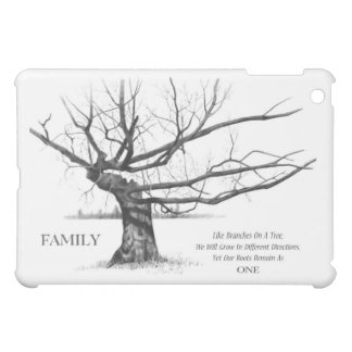 FAMILY: Pencil Art: Gnarly Old Tree: Family Ties Cover For The iPad Mini