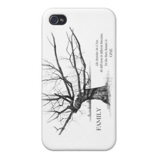 FAMILY: Pencil Art: Gnarly Old Tree: Family Ties iPhone 4/4S Cases