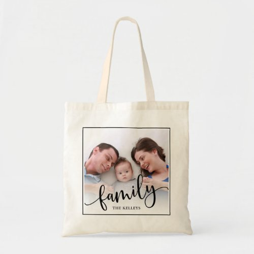 Family Personalized Custom Full Photo Framed Tote Bag
