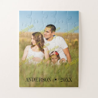 Family Personalized Special Create Your Own Custom Jigsaw Puzzle