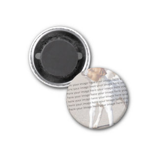 Family Pet Photo 1 Inch Round Magnet