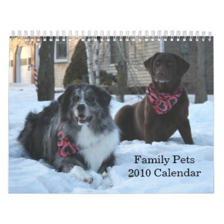 Family Pets 2010 Calendar 2