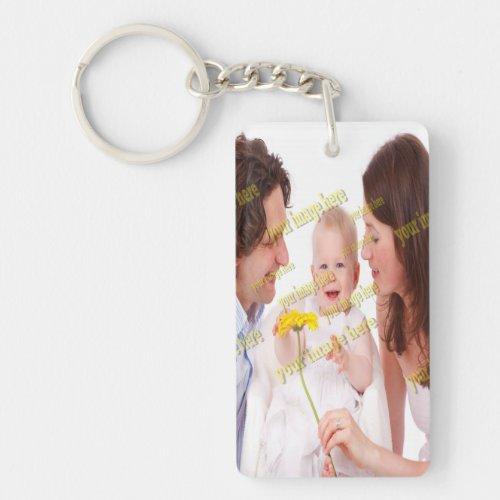 Family Photo Budget Keychain