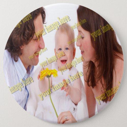 Family Photo Budget Pinback Button