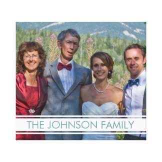 Family Photo Stretched Canvas Prints