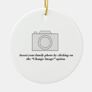 Family Photo Ceramic Ornament