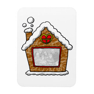 family photo Christmas cookie house Magnet