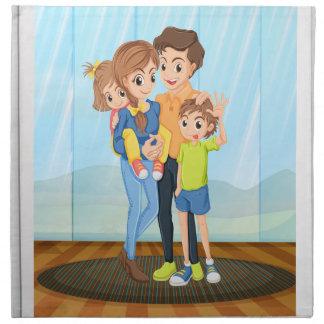Family photo cloth napkin