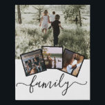 """Family Photo Collage Custom Personalized Faux Canvas Print<br><div class=""""desc"""">Family Photo Collage Custom Personalized created by you personalized wall art - Faux Wrapped Canvas Print from Ricaso</div>"""