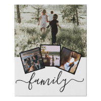 Family Photo Collage Custom Personalized Faux Canvas Print