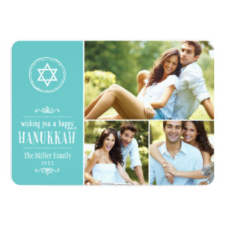 Family Photo Collage Hanukkah Card