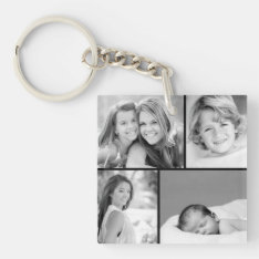 Family Photo Collage Keychain at Zazzle