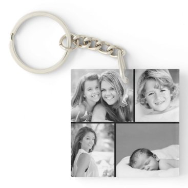 jenniferstuartdesign Family Photo Collage Keychain