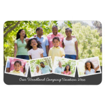Family Photo Collage w Zigzag Photo Strip Flexible Magnet
