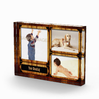 Family photo country wood template award