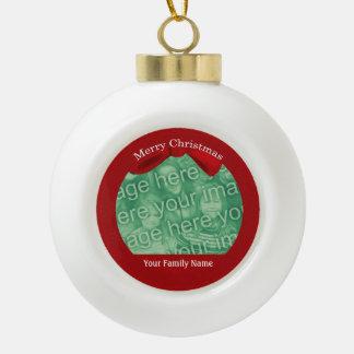 Family Photo Custom Ball Ornament