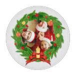 Family Photo Customizable Christmas Wreath Cutting Board