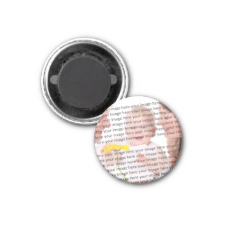 Family Photo Customize it 1 Inch Round Magnet