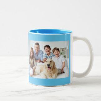 Family Photo Design Two-Tone Coffee Mug
