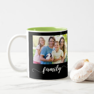 Family Photo Design Two-Tone Coffee Mug
