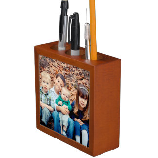 Family Photo Desk Organizer