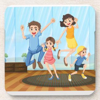 Family photo drink coaster