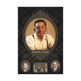 family photo easel  memorial canvas print