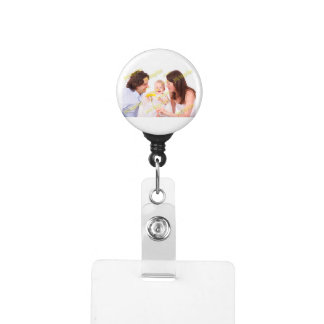Family Photo Easy Budget Template Badge Holder