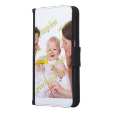 Family Photo Easy Budget Template Wallet Phone Case For Samsung Galaxy S6 at Zazzle