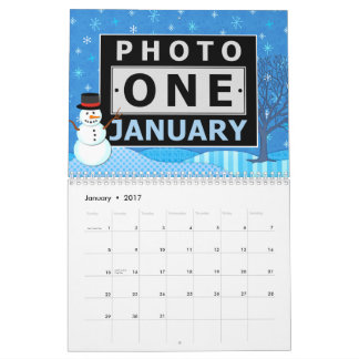 Family Photo Easy DIY Custom 2017 Seasonal Scene Calendar