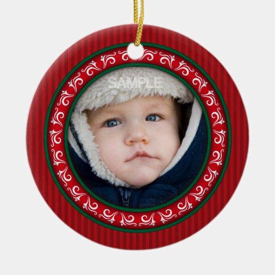 Family photo frame ornament keepsake