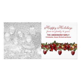 Family photo greeting PERSONALIZE Card